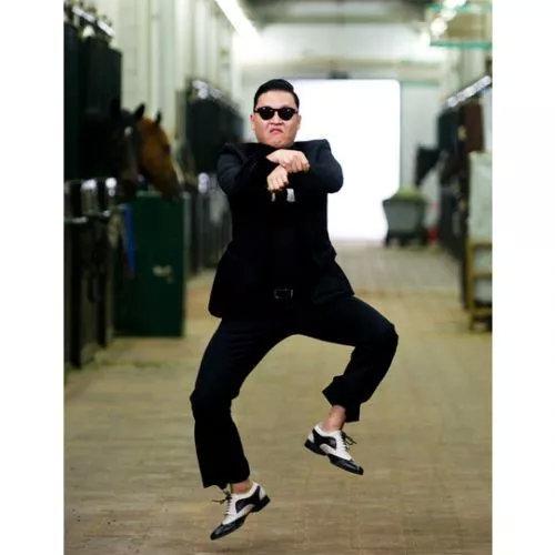 鸟叔在表演《江南Style》